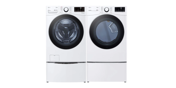 LG Front Load Laundry Pairs Gas WM3600HWA_DLG3601W